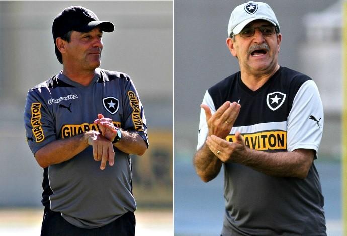 Eduardo Hungaro, René Simões, Botafogo (Foto: Arte Esporte)