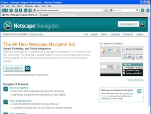 Interface Netscape