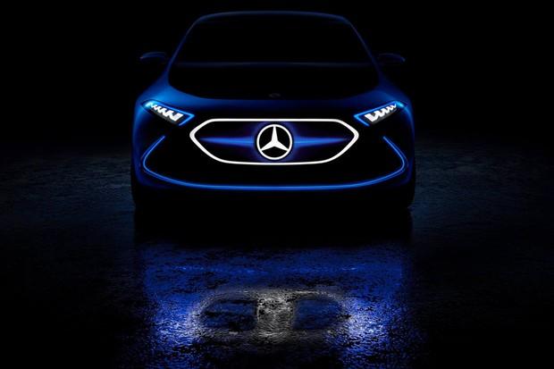 Mercedes-Benz divulga teaser de novo carro elétrico da família EQ (Foto: Divulgação)