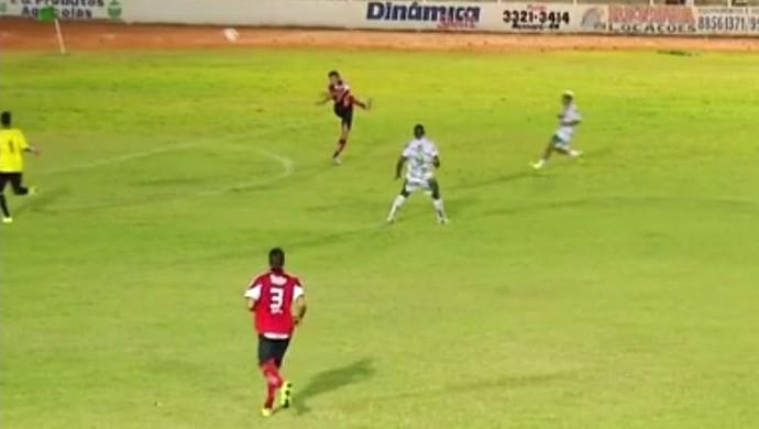Assu x Santa Cruz de Natal - David - gol contra (Foto: Reprodução)