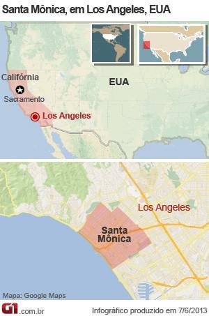 mapa los angeles tiroteio (Foto: AP)