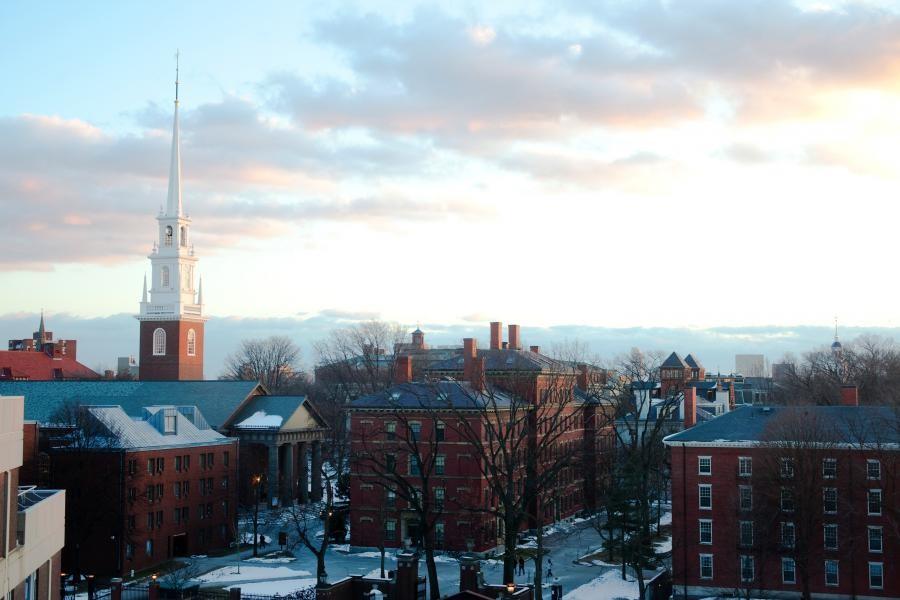 A universidade de Harvard, nos Estados Unidos (Foto: Divulgação/Harvard)