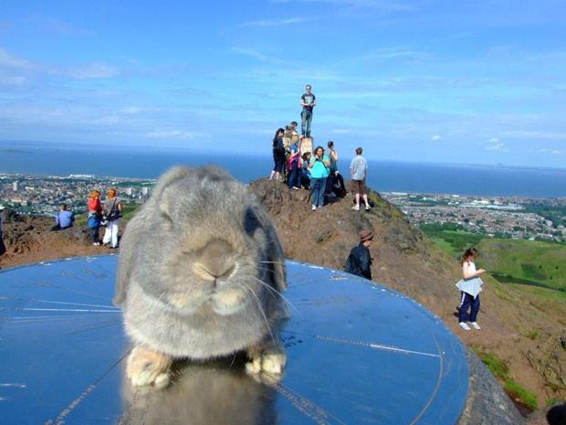 Jared em um ponto turístico da Escócia (Foto: Korrasut Khopuangklang/Arquivo pessoal)