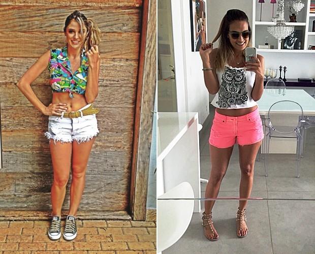 Rafa Brites e Talitha Morete mostram como montar looks com shorts (Foto: Arquivo pessoal)