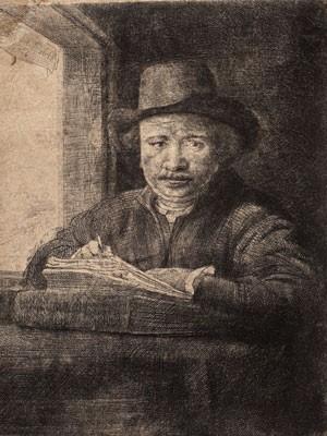 Gravura do holandês Rembrandt faz parte da exposição (Foto: Divulgação)