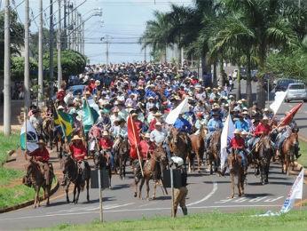 Segundo a organização, cerca de 2 mil cavaleiros são esperados para a cavalgada em Londrina (Foto: Divulgação/ExpoLondrina)