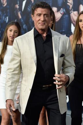 Sylvester Stallone em première em Los Angeles, nos Estados Unidos (Foto: Frazer Harrison/ Getty Images/ AFP)