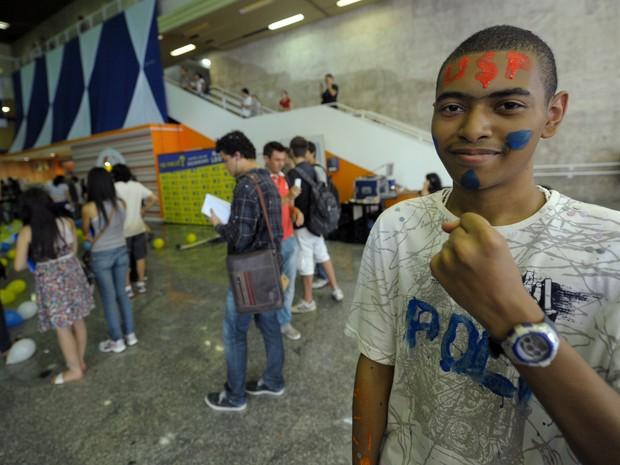 Ramon Silva de Lima, 17 anos aprovado no curso de Engenharia (Foto: Flavio Moraes/G1)