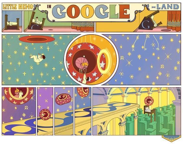 Logo do Google homenageia Winsor McCay (Foto: Reprodução)