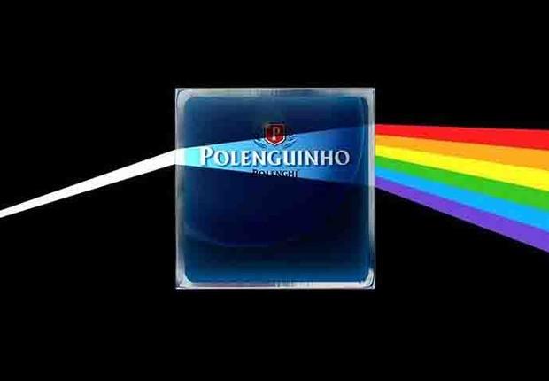 Campanha da Polenguinho em homenagem ao álbum Dark Side of the Moon, do Pink Floyd: internautas confundiram post com apoio a movimento LGBT (Foto: Reprodução/Facebook)