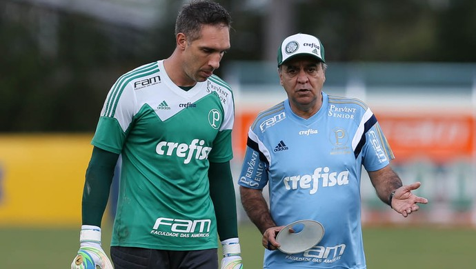 Fernando Prass Marcelo Oliveira Palmeiras (Foto: Cesar Greco/Ag Palmeiras/Divulgação)