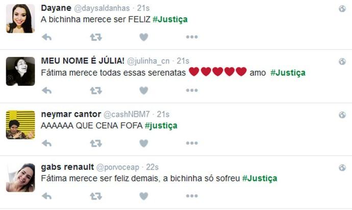 Público comemora final de Fátima (Foto: Tv Globo)