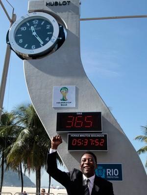 relógio Pelé copa do mundo 2014 contagem regressiva (Foto: Reuters)