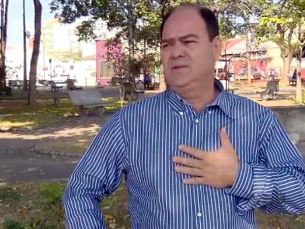Novo prefeito de Campo Belo, Antônio Carlos Alvarenga (PPS), já assumiu o cargo (Foto: Reprodução EPTV)