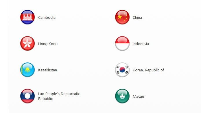 Desça na bandeira da Coreia do Sul para criar a nova conta (Foto: Reprodução/Tais Carvalho)