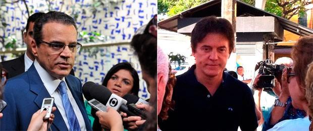 Henrique Alves (PMDB) e Robinson Faria (PSD) são dois dos candidatos ao governo do Rio Grande do Norte (Foto: Ananda Borges/Câmara dos Deputados e Igor Jácome/G1 )