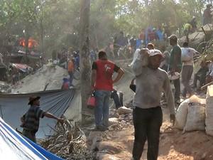 Caso ocorreu em garimpo ilegal, que voltou a ser ocupado (Foto: Reprodução/TVCA)