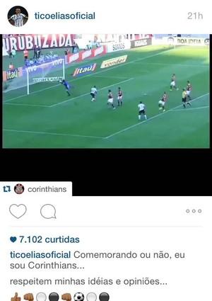Elias Corinthians desabafa em rede social (Foto: Reprodução/Instagram)