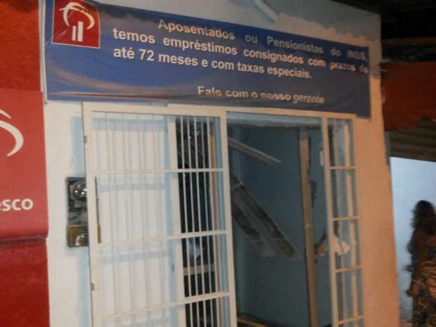 Esse é o único posto bancário que abastece todo a população da cidade de Satubinha (Foto: Divulgação/Polícia Militar)