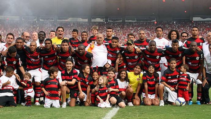 time Flamengo campeão brasileiro 2009 maldição do hexa (Foto: Vipcomm)