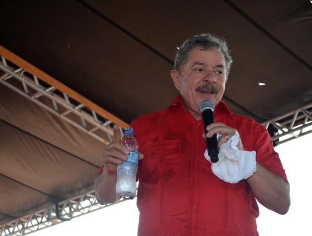 Lula no Acre (Foto: Rayssa Natani/G1)