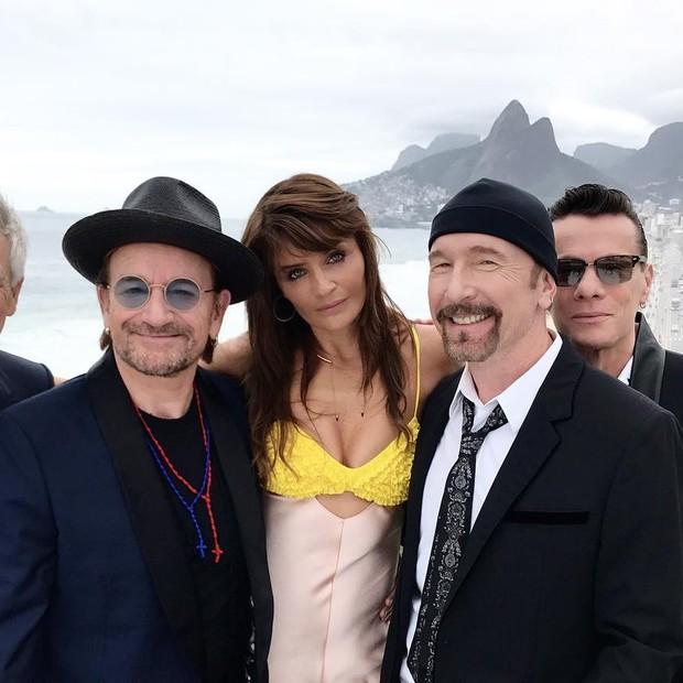 Helena Christensen e U2 (Foto: Reprodução/ Instagram)