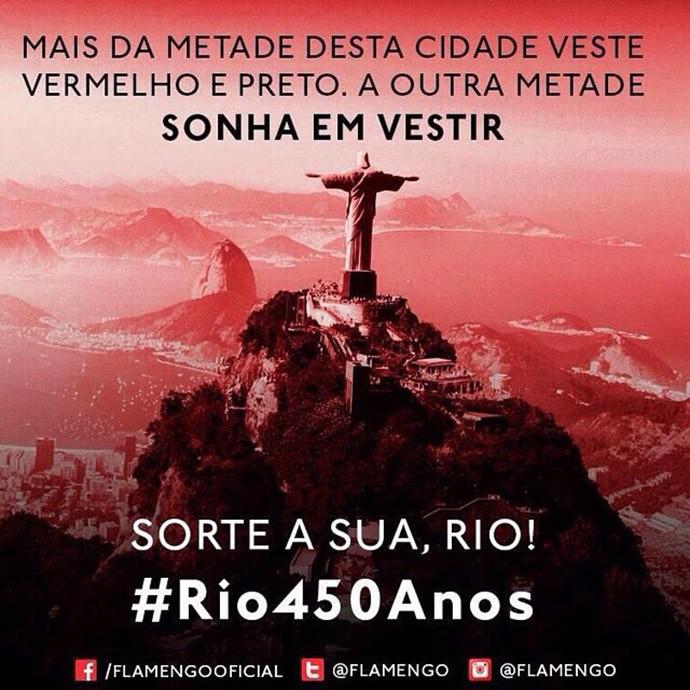 Flamengo homenagem ao Rio no Instagram