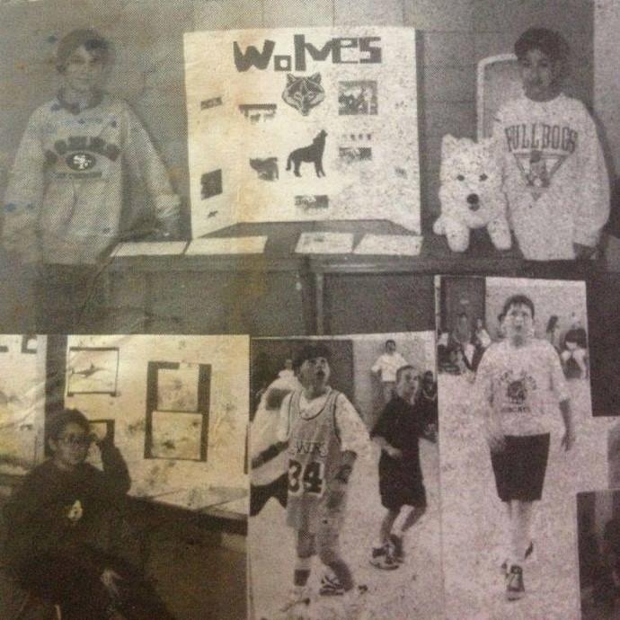 Em meio a fotos antigas da época dos EUA, Caio aparece com a camisa 34 de Shaq nos Lakers (Foto: Arquivo Pessoal)