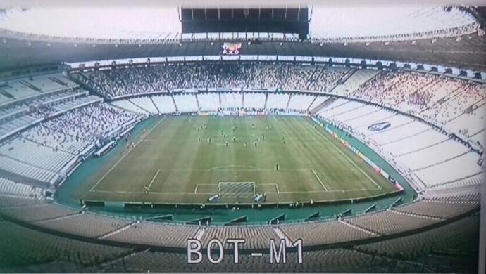 Arena Castelão, público (Foto: Reprodução/TV Verdes Mares)
