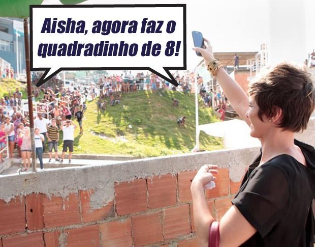 Aisha, caia no funk!  (Foto: Salve Jorge / TV Globo)