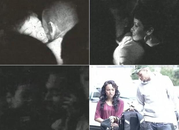 Chris Brown em imagens com Rihanna e Karrueche (Foto: Reprodução)