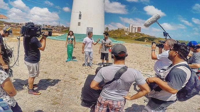 Leo Souza participando do Caldeirão do Huck (Foto: Tulio Oliveira / Rota Inter TV)