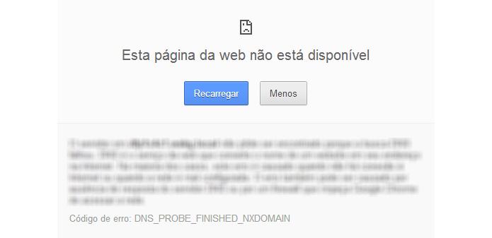 Falha de programação pode impedir o download da página (Foto: Reprodução/Paulo Alves)
