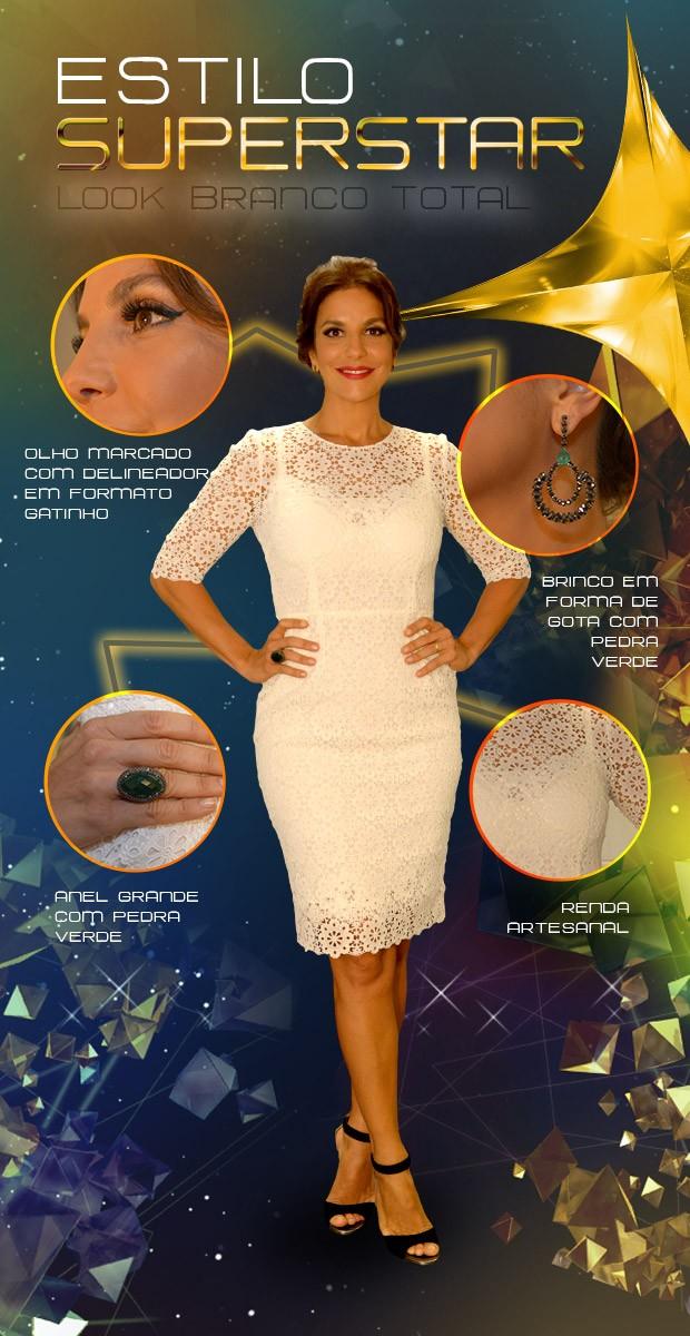 Ivete Sangalo aposto em look branco para terceira noite de Audições (Foto: SuperStar / TVGlobo)