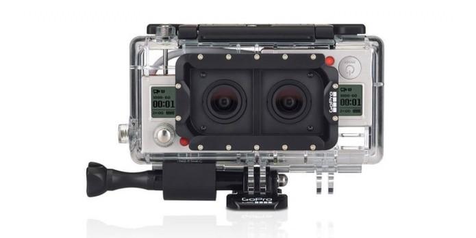 Case combina duas GoPro para dar efeito 3D nas filmagens (Foto: Divulgação/GoPro)