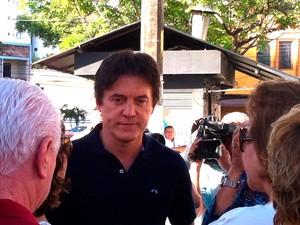 Vice-governador Robinson Faria também foi ao Colégio Atheneu neste domingo de eleição  (Foto: Igor Jácome/G1)