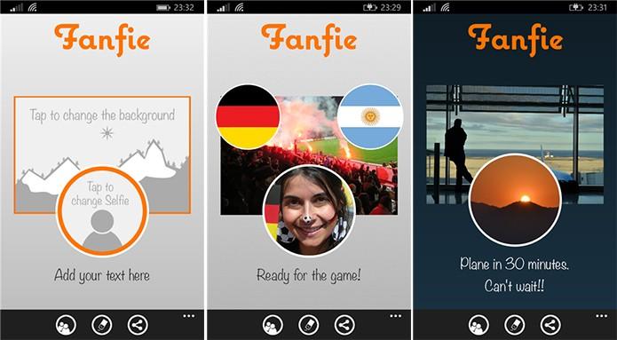 Fanfie é um aplicativo para criação de cartões com imagens no Windows Phone (Foto: Divulgação/Windows Phone Store)
