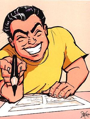 Mauricio de Souza caricatura cartoon (Foto: Marcio Nicolosi)