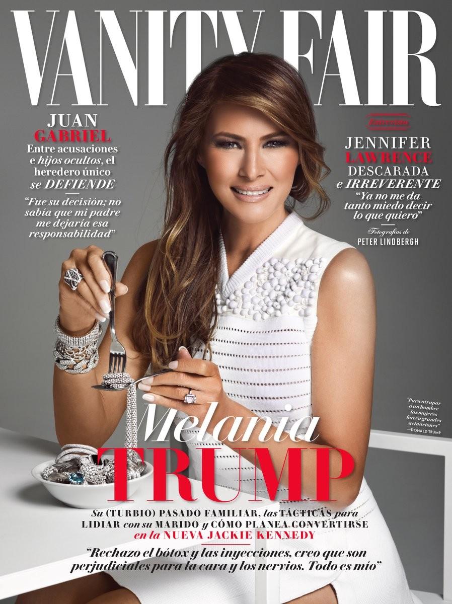 Melania na capa da Vanity Fair mexicana (Foto: Reprodução)