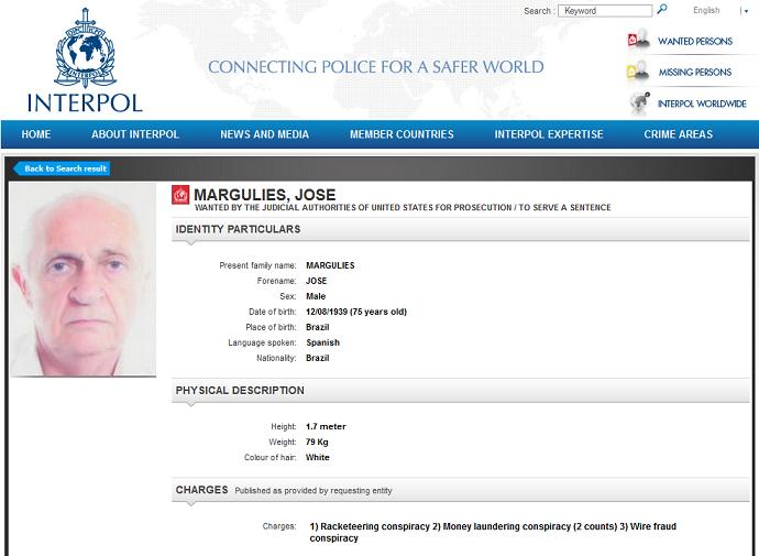 Jose Marguiles - procurado Interpol