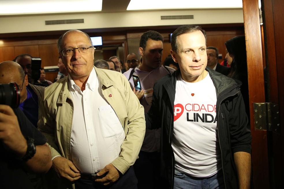 Alckmin e Doria no Seminário de Eficiência na Gestão Pública (Foto: RENATO S. CERQUEIRA/FUTURA PRESS/ESTADÃO CONTEÚDO)