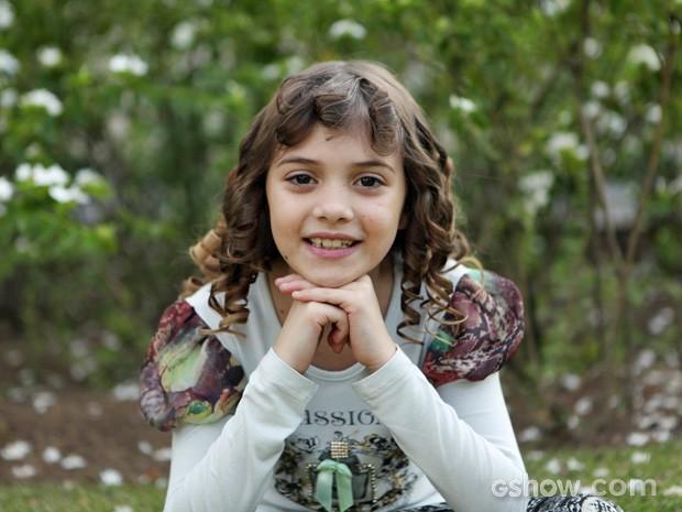 Geytsa Garcia interpreta a doce Pituquinha (Foto: Carol Caminha / TV Globo)