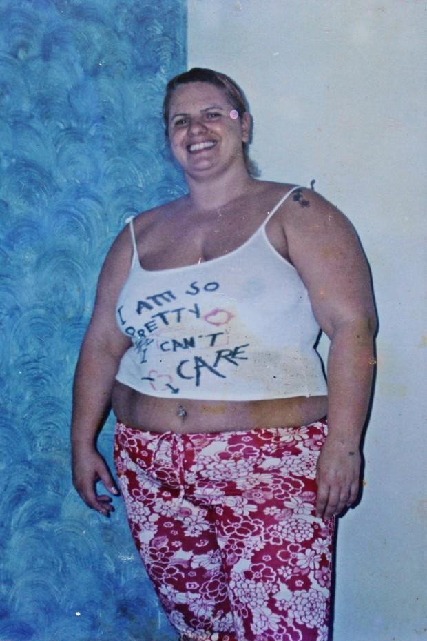 Patricia Sevecenco quando ainda era gordinha (Foto: Arquivo pessoal)