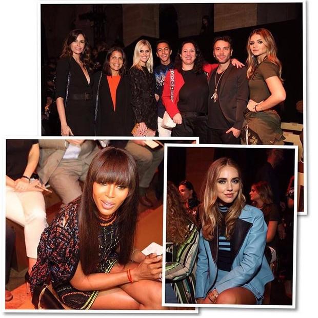 Os convidados da primeira fila da Versace (Foto: Reprodução/Instagram)