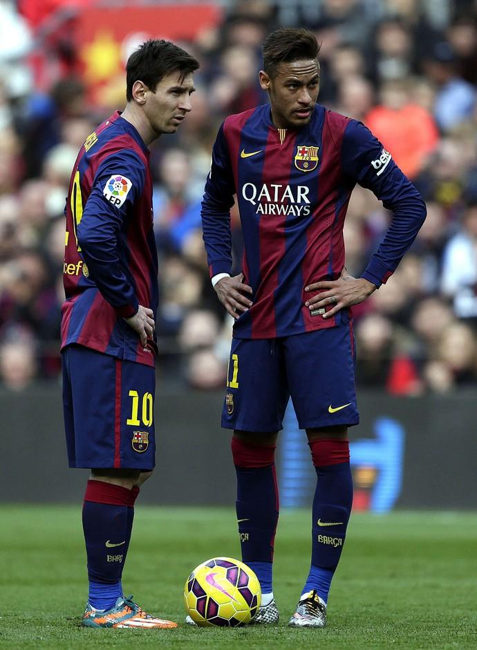 Messi e Neymar, Barcelona x Malaga (Foto: EFE)