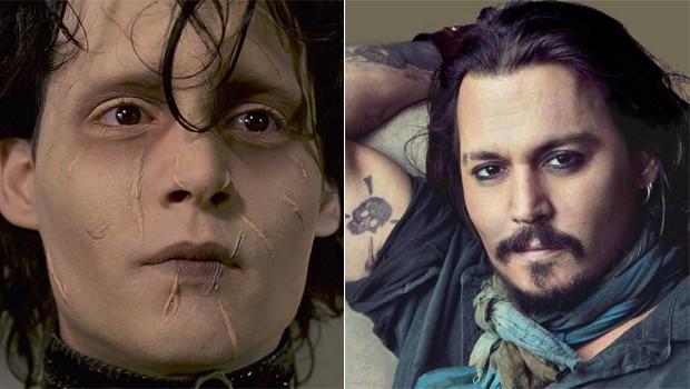 Johnny Depp como emblemático Edward Mãos de Tesoura (Foto: reprodução/divulgação)