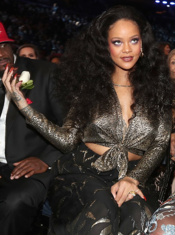 A cantora Rihanna na edição de 2018 do Grammy (Foto: Getty Images)
