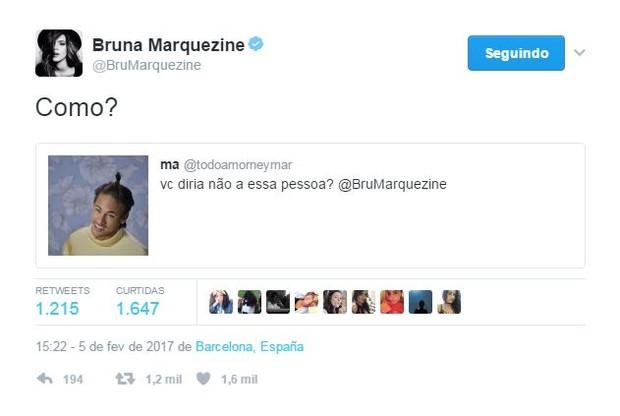 Bruna Marquezine (Foto: Reprodução/twitter)