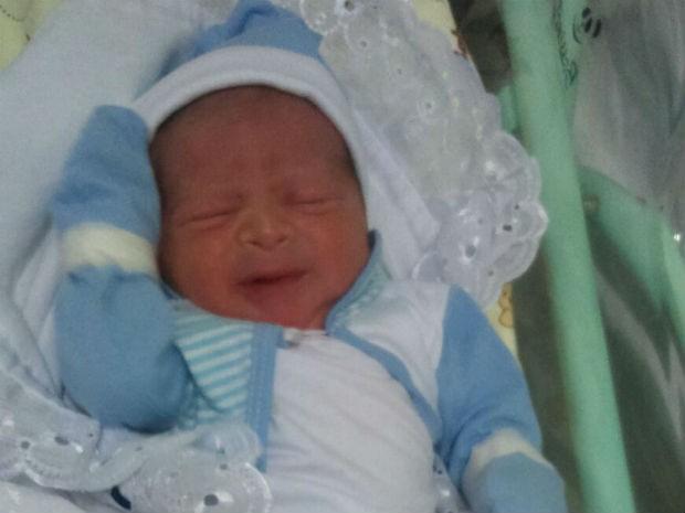 Arthur nasceu nesta quarta-feira (24) (Foto: Arquivo Pessoal/ Geovane Araújo)