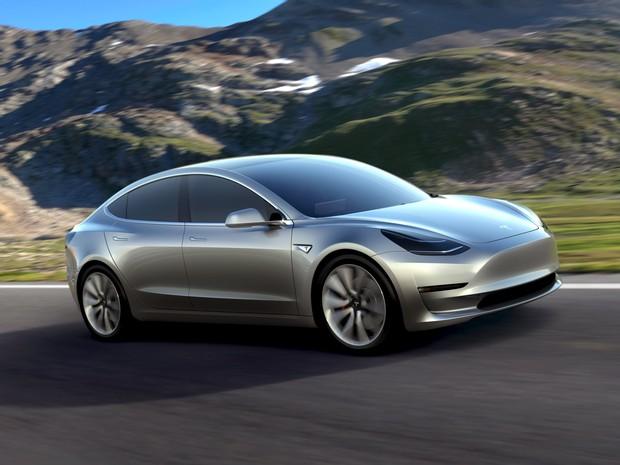 Tesla lança o Model 3, para se tornar mais acessível (Foto: Divulgação)
